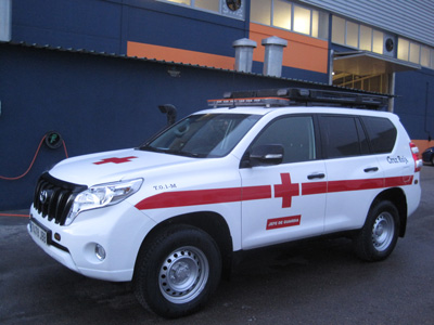 Toyota Land Cruiser 4x4 Cruz Roja